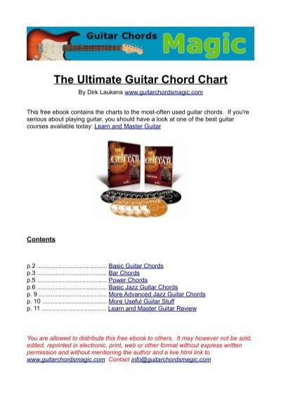 The Ultimate Guitar Chord Chart Ii By Phillip J Facoline