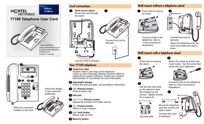 nortel networks phone user guide