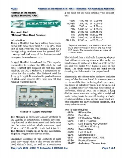 Heathkit RX-1 - Orange County Amateur Radio Club