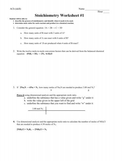 01 30 13 stoichiometry worksheet 1 whitnall high school. Black Bedroom Furniture Sets. Home Design Ideas