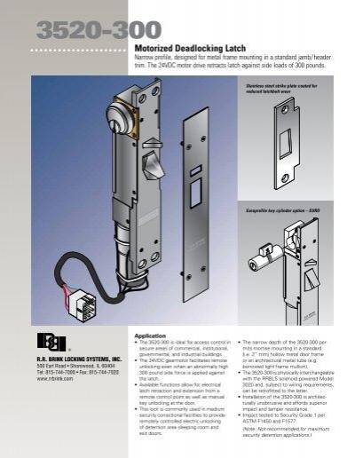3520300  RR Brink Locking Systems  Inc