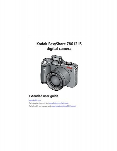 kodak easyshare z8612 is digital camera radio shack rh yumpu com Kodak EasyShare Camera User Guide Manual for Kodak EasyShare 12MP