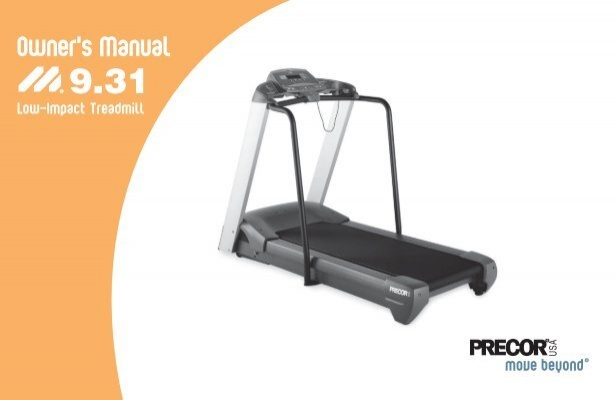 m9 31 treadmill owner s manual 11 2004 precor rh yumpu com Modular Home Wiring Diagram Treadmill Motor Power Supply Schematic