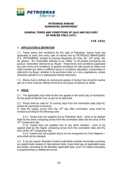 1/9 PETROBRAS MARINE BUNKERING     - Glander International Inc