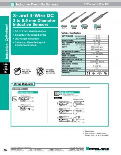 inductive proximity sensors - 3 and 4-wire dc 3 to 6 5 mm diameter