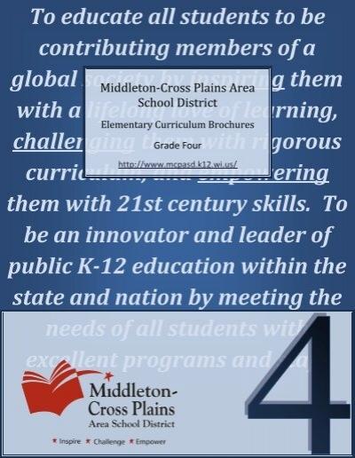 Fourth Grade Curriculum Guide Middleton Cross Plains Area School