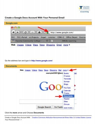 Create A Google Docs Account With Your Personal Email - Google docs personal