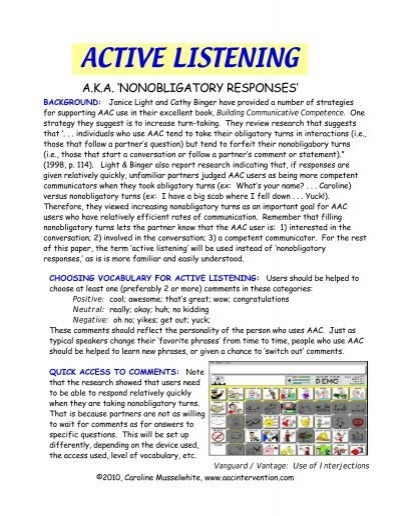 active listening research
