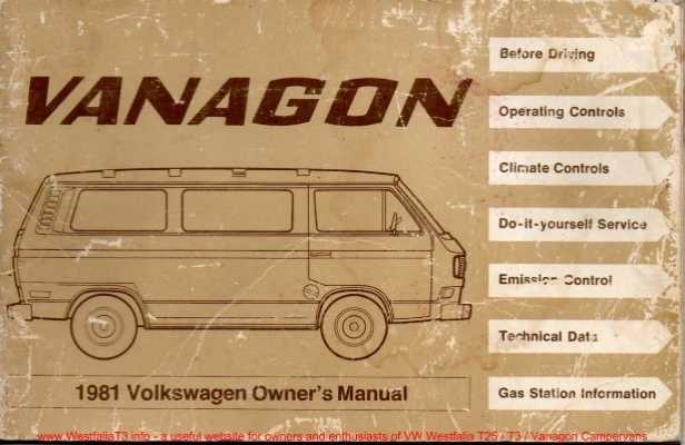 Rm182b service manual westfalia t25 t3 vanagon info site download 1981 vw westfalia t3 vanagon full owners manual publicscrutiny Images