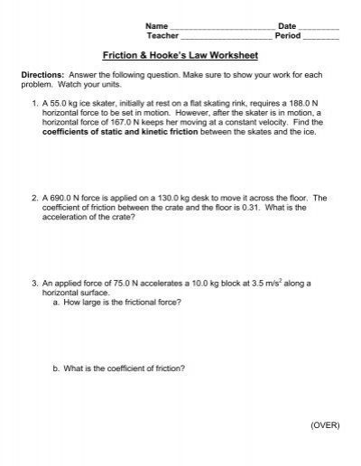 Friction  Centripetal Force Worksheet Physics Draw a Free Body