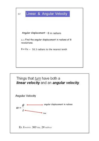 Worksheets Angular And Linear Velocity Worksheet Answer Key linear and angular velocity2 notebook displacement in radians