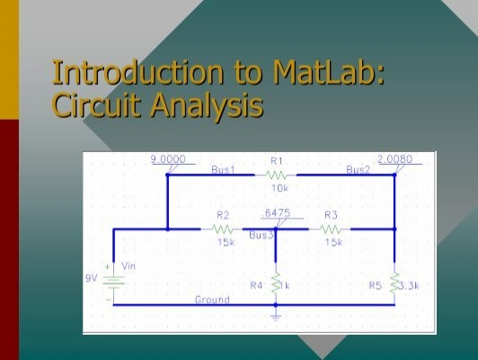 introduction to matlab application to electrical Introduction to matlab for engineers are mjaavatten bernt lie august, 2005 ii 25 built-in constants in matlab.