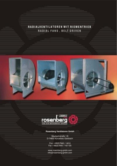 radialventilatoren mit riementrieb radial fans belt. Black Bedroom Furniture Sets. Home Design Ideas