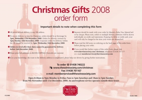 The wine society christmas gifts