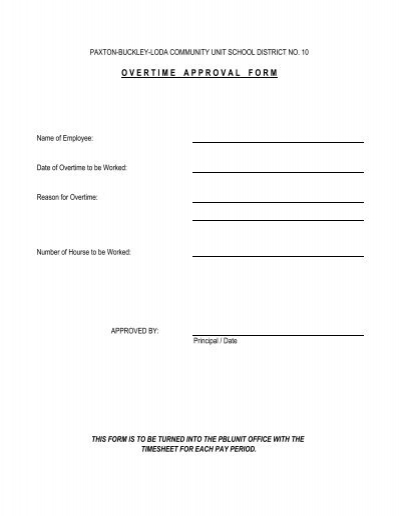 Overtime Approval Form (2) - Paxton - Buckley