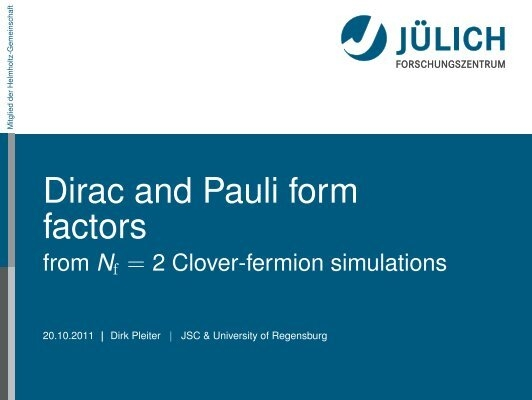 Dirac and Pauli form factors - from Nf=2 Clover-fermion simulations