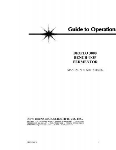 bioflo 3000 manual afab lab rh yumpu com