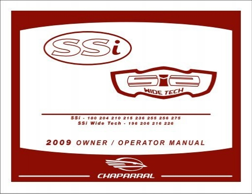 2009 Owner Operator Manual Chaparral Boats Owners Club