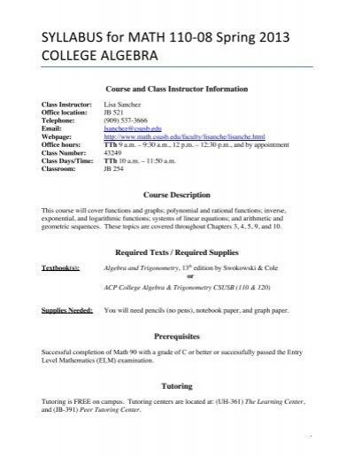 Finite Math Worksheets - Synhoff