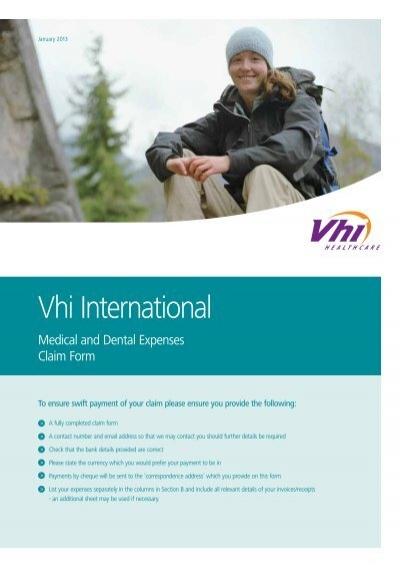 Vhi International Travel Insurance Claim Form