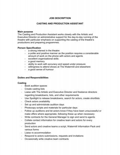 Job Description Administrative Assistant Admissions