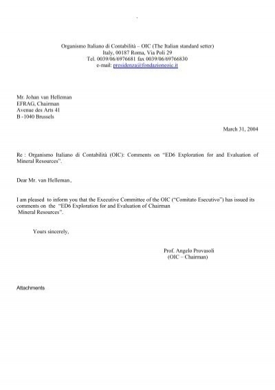 OIC comments on EFRAG Draft comment letter on IASB ED 6