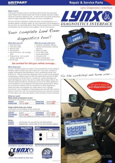 Repair & Service Parts Ly