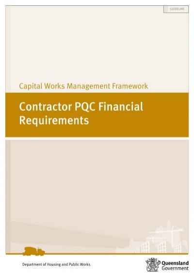 contractor pqc financial requirements guideline
