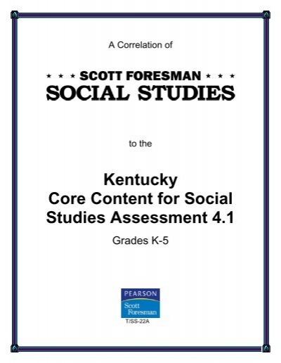 scott foresman k social studies