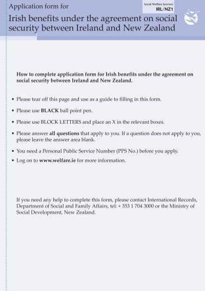 Ireland New Zealand Social Security Agreement Irlnz1 Welfare