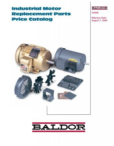 Industrial motor replacement parts price catalog baldor for Baldor industrial motor parts
