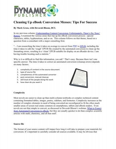 Whitepaper pdf cleaning up ebook conversion messes fandeluxe Ebook collections