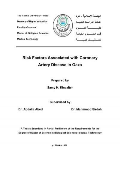 thesis on coronary artery disease