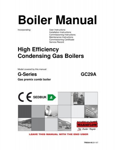 GC29A – Band A gas fired combination boiler manual