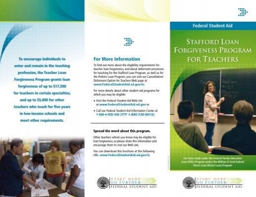 Stafford Loan Forgiveness Program For Teachers
