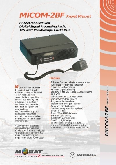 MICOM 2BF Front Mount American Communication Systems
