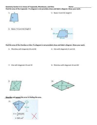 8.5 Use Properties of Trapezoids and Kites