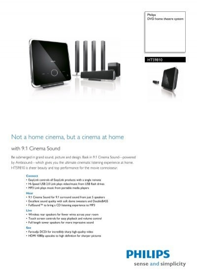 HTS9810/12 Philips DVD home theatre system