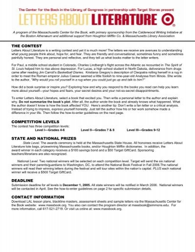 The Contest Competition Levels State And National Prizes Deadline