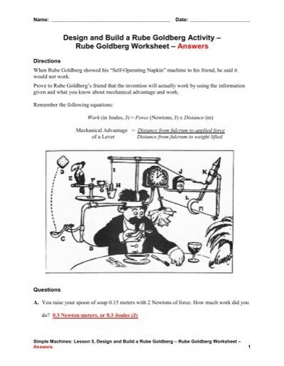 Rube Goldberg Devices And Simple Machines