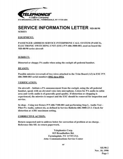 Service Letter 98-2