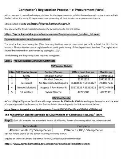 E Procurement Karnataka Login - 0425