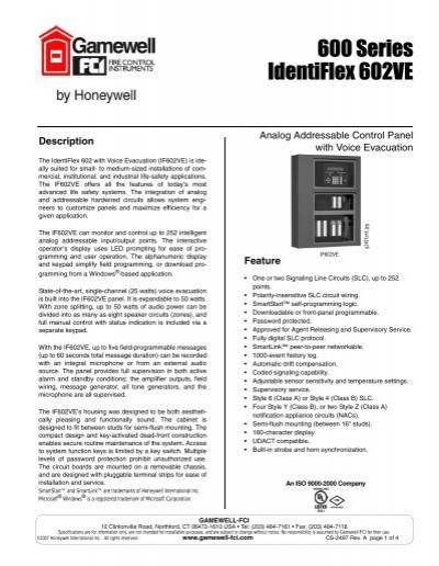 gamewell fci if602 installation amp operation manual