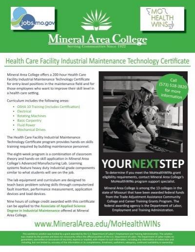 Certified Logistics Technician Program - Mineral Area College