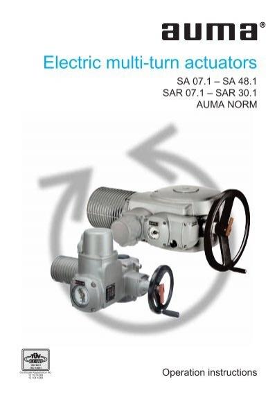 Electric Multi Turn Actuators Technomad