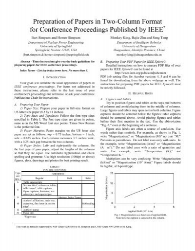 ieee conference paper template electronic engineering