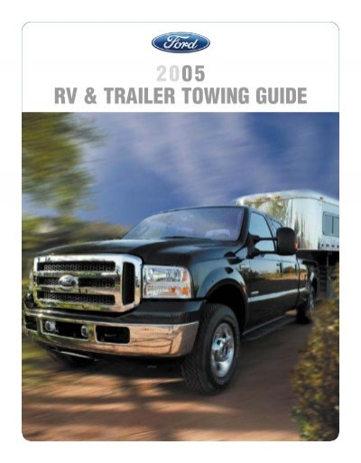 2005 towing guide ford fleet ford motor company rh yumpu com Ford Explorer Towing Capacity Chart SUV Towing