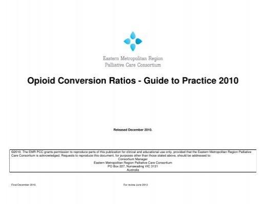 Opioid Conversion Chart 05 Palliativedrugs
