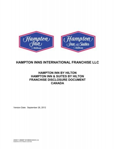 2012 Hampton Canada Fdd Annual Renewal Hilton Worldwide
