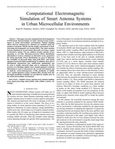 Computational electromagnetic simulation of smart